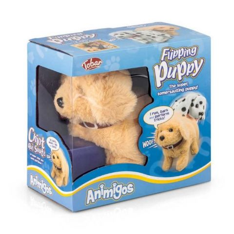 Flipping Puppy Labrador Animigos Plush Toy Tobar 18m+